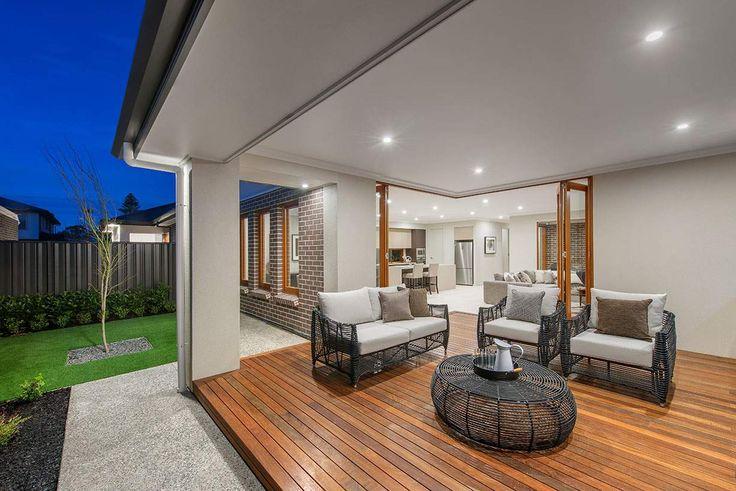 Enjoy warm summer nights in this gorgeous alfresco area #weeksbuildinggroup #newhome #homedesign