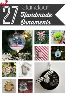 Forget generic Christmas ornaments from the store - these handmade ornaments will make your tree something truly special!