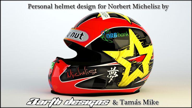 Helmet for Norbert Michelisz, WTCC's 2012 private champion