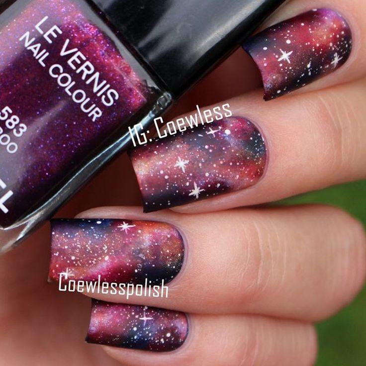 1000 Ideas About Galaxy Nail Art On Pinterest Galaxy