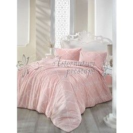 Altinbasak Lamina roz - lenjerie de pat din bumbac ranforce 2 persoane