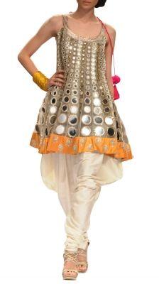 Mirror Work Suit with Jodhpuri