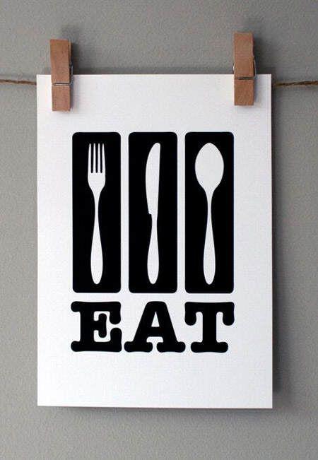 C mo decorar la pared de la cocina retro posters - Como decorar cocina ...