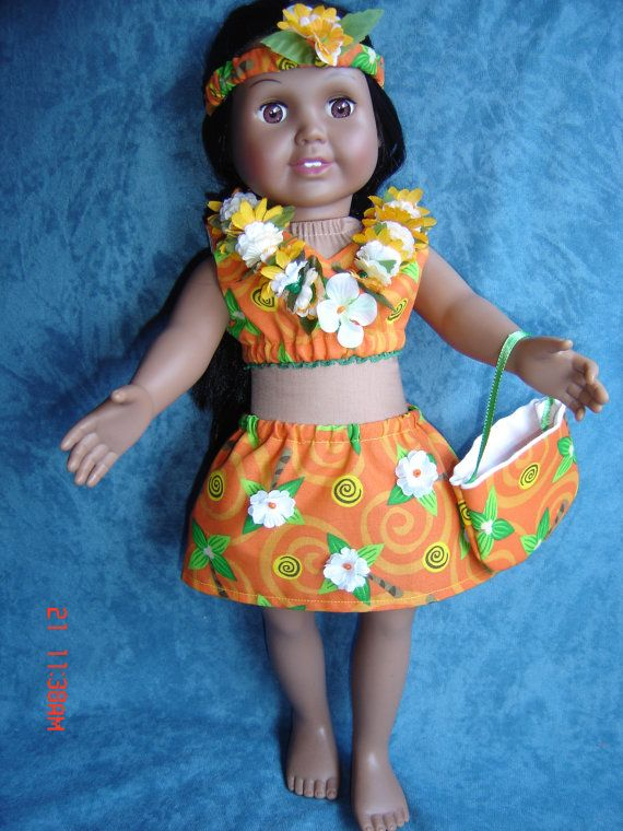 SPRINGFIELD DOLL   with  HAWAIIAN   costume lei tote by frabotta, $39.95