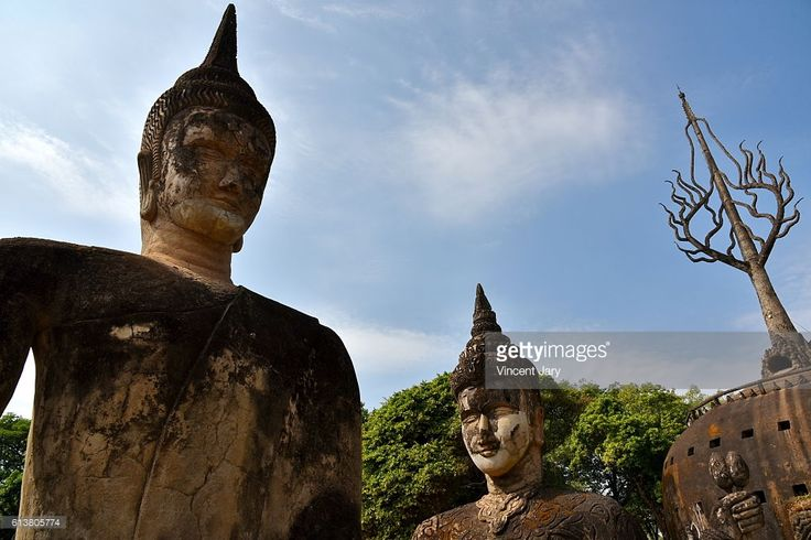 Big Buddha statues at Buddha Park, Vientiane, Laos. Asia. #photo #travel #traveling #getty #picture #photograph #photographer #artist #lover #culture #buddhist #budddism #world