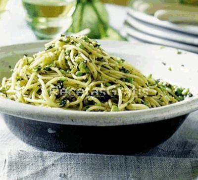 Facil y rapido! Receta de Espagueti Verde o al chile poblano