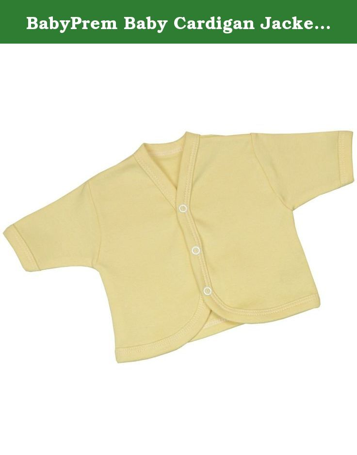 BabyPrem Baby Cardigan Jacket Cotton Clothes Premature - 6 months LEMON NEWBORN. This is a lovely and soft little plain coloured cotton cardigan with 3 popper fasteners, to make dressing easier. It is a quality garment made from 100% Cotton, machine washable at 40 degrees and manufactured in our own factory in the UK. All orders received before 12pm Mon to Fri are despatched the same day (except Bank Holidays). Available in sizes Prem 1 (1.5-3.5lb), Prem 2 (3.5-5.5lb), Prem 3 (5.5-7.5lb)...