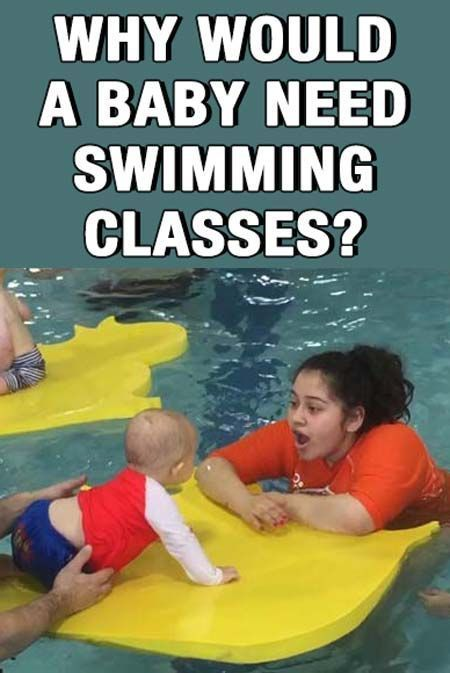 Why in the world do babies need swimming classes? They can't even walk!! Consider enrolling baby into swim class? Read this first!