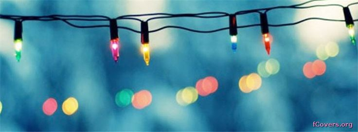 Vintage Christmas Light Facebook Cover Photo #1766