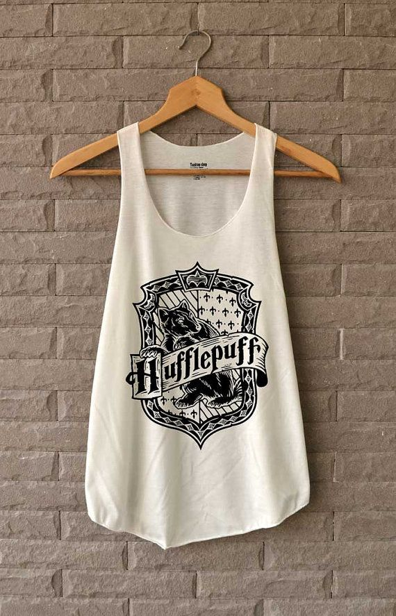 NEW Hufflepuff Shirt Harry Potter Shirts Tank Top by Teegethershop