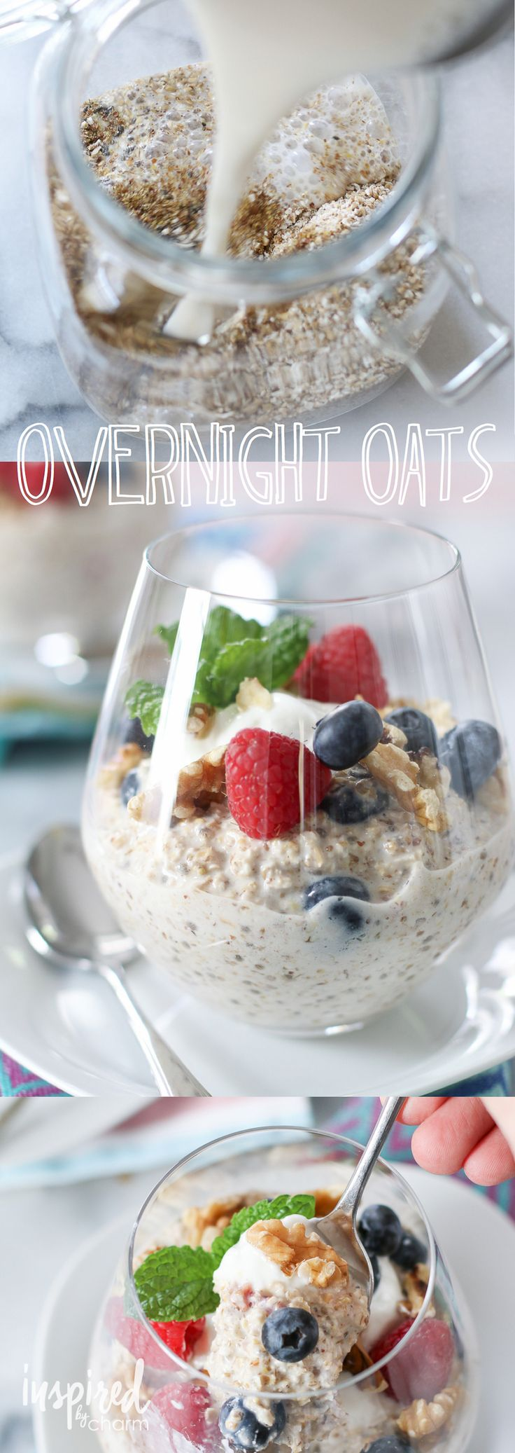 Overnight Oats / an easy, healthy, and delicious way to start your day! Prep the night before and devour in the morning. Love this variation (and presentation)!