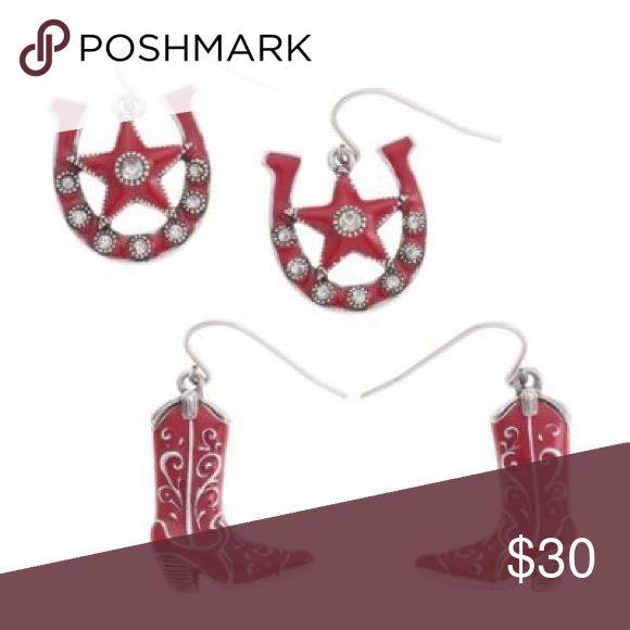 Grace Adele Cowgirl Earrings Red (Scarlett) earrings. Grace Adele Jewelry Earrings