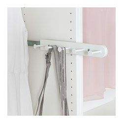 "KOMPLEMENT Pull-out multi-use hanger, white - white - 13 3/4 "" - IKEA"