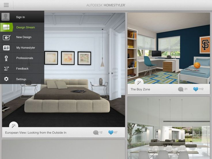 Using your pictures, Homestyler Interior Design creates renderings of potential furniture purchases in you home before you buy them. We love this app for we're a bit ambivalent about making a big furniture purchase.  Free on iOS and Android   - ELLEDecor.com