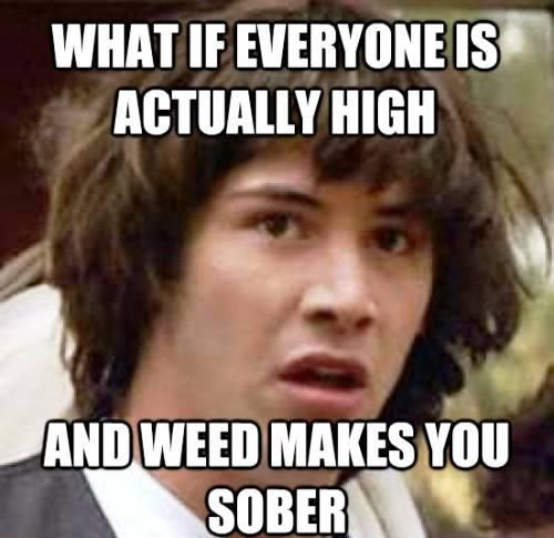 Conspiracy Keanu Ponders Being High On Marijuana - Marijuana Memes