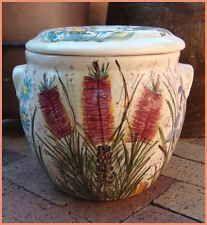 Vintage Australiana Daisy Ware Daisyware Australian Pottery Bread Crock