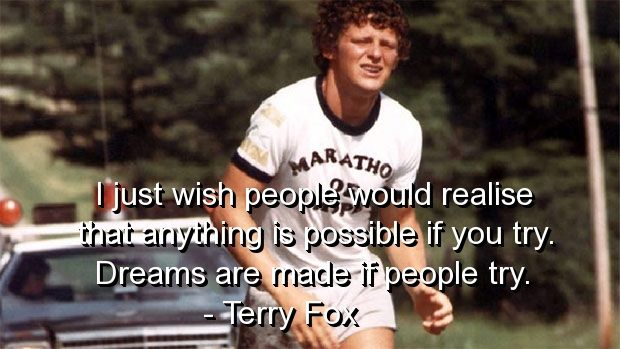 Deep+and+Meaningful+Quotes | terry fox, quotes, sayings, deep, meaningful, possible, positive ...