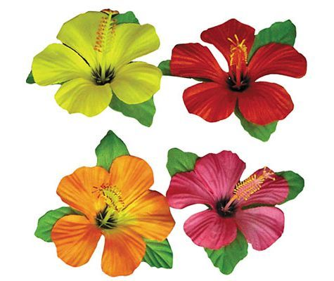 PARTY CITY Hibiscus Flower Table Cover Clips - Party City (4 each) 9 sets for 36 2nd grade girls