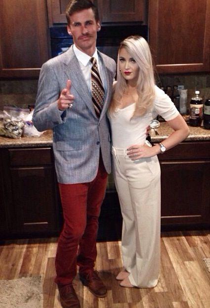 Couple Halloween costume. Ron Burgundy and Veronica Corningstone! @jordansekula