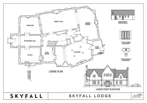 Gallery For > Skyfall House Plans