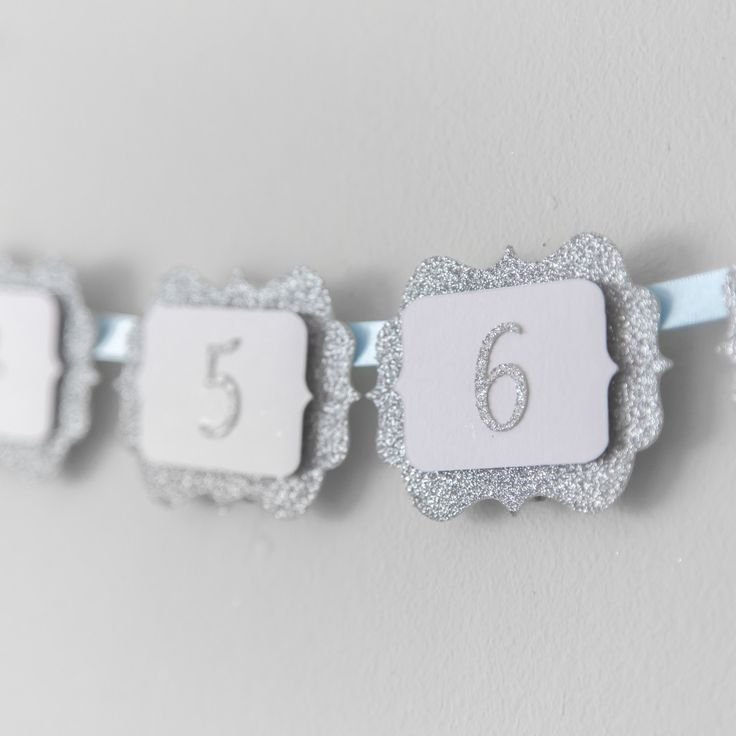 12 Months Photo Banner. First Birthday Banner. Silver Glitter Birthday. Boy and Girl. Wall Banner. Party Decorations. Baby Blue Ribbon. by InspiredbyAlma on Etsy