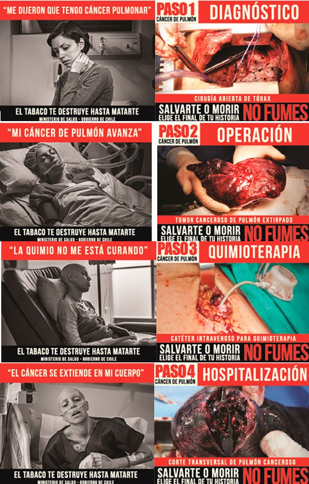 Cinco nuevas advertencias para cajetillas de cigarro regirán a partir de noviembre . #Chile agosto 2013