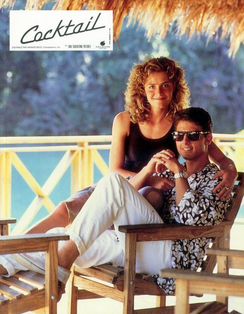 Elisabeth Shue and Tom Cruise (Cocktail, 1988).