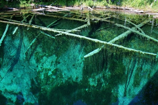 "Summer bucket list:  Kitchitikipi is Michigan's largest natural freshwater spring. The name means big cold water and is sometimes referred to as The Big Spring. Its original name was the ""Mirror of Heaven"" given to it by the early Indians."