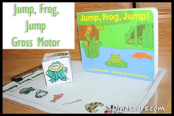 Jump Frog Jump Gross Motor with Printable from 3 Dinosaurs