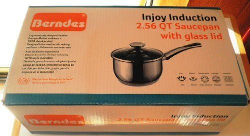 Berndes Injoy Induction 2.56 Qt Saucepan with Glass Lid by Berndes. $74.97