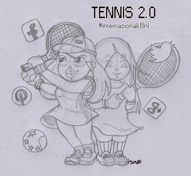 ISACOMICS: TENNIS 2.0 agli Internazionali BNL a Roma