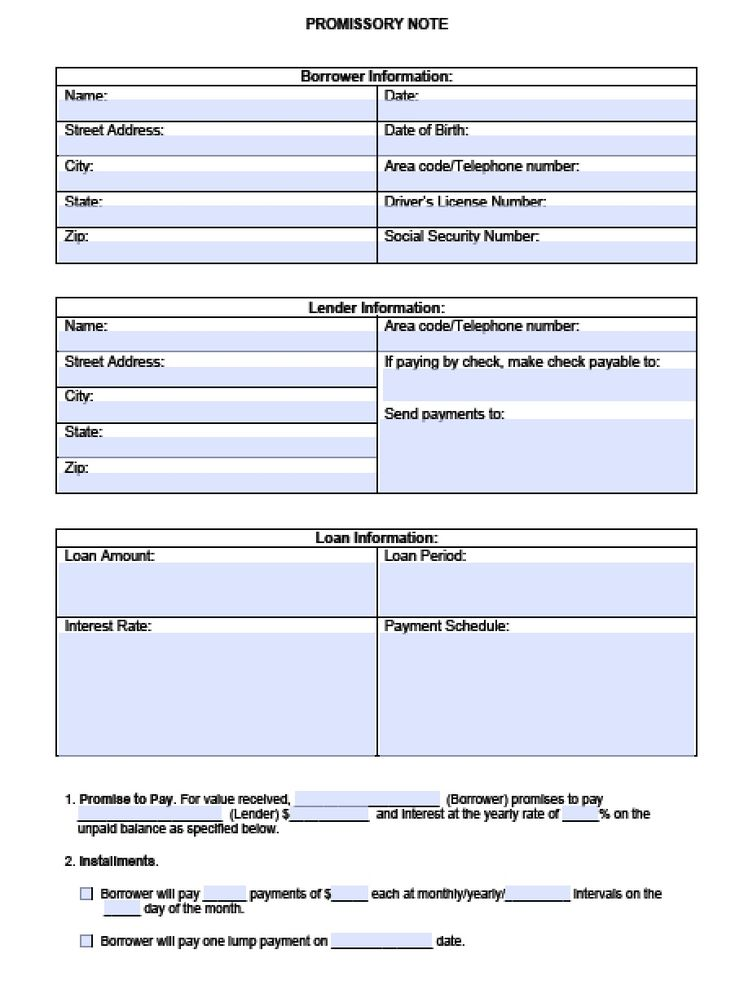 Download Blank Promissory Note Template | PDF | RTF | Word wikiDownload                                                                                                                                                                                 More