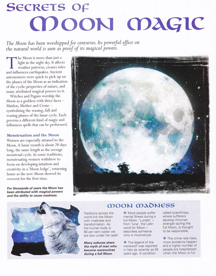 Moon:  Secrets of #Moon Magic.