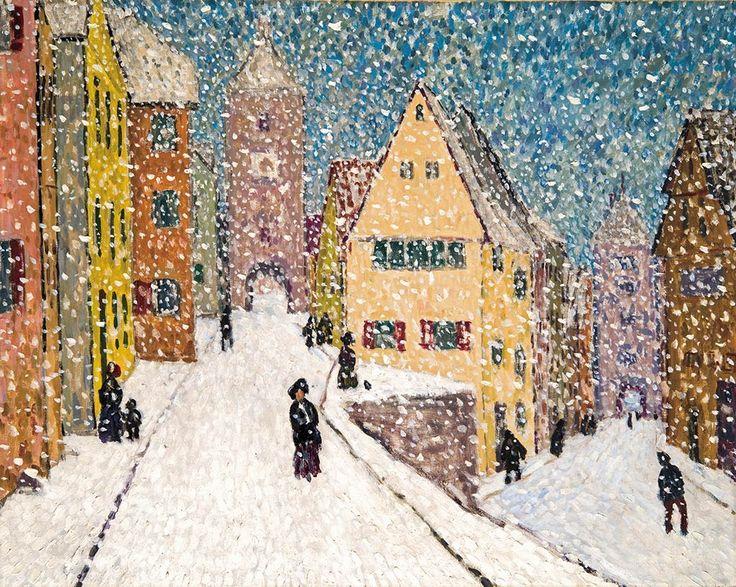 Balla Béla: Tél (Rothenburg télen), 1911.