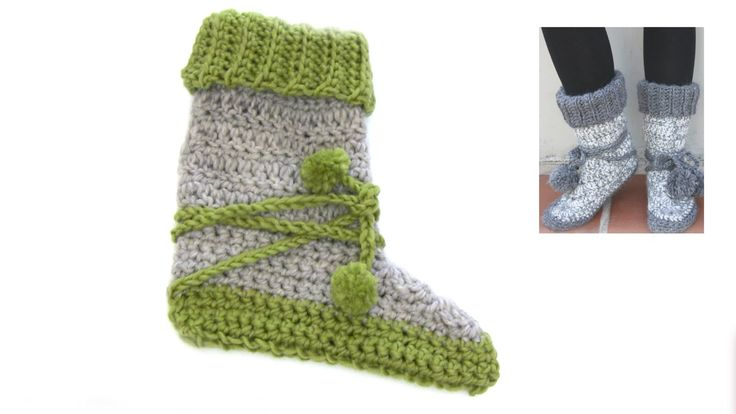 How to crochet the slippers in DROPS Extra 0-888