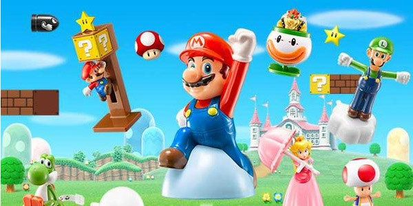 Juguetes de Mario en la Cajita Feliz de McDonalds en Japón