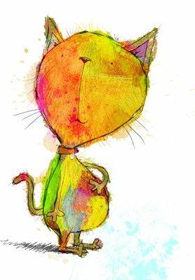 Rainbow Cat by Lee Wildish
