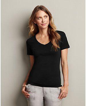 Short Sleeve Favorite V Neck T Shirt Eddie Bauer Women 39 S