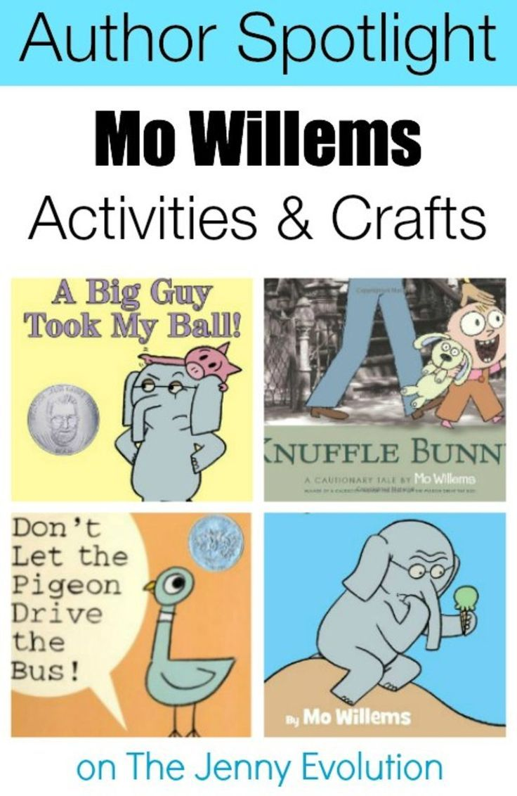mo willems activities crafts and author spotlight for kids - Kids Activities Book