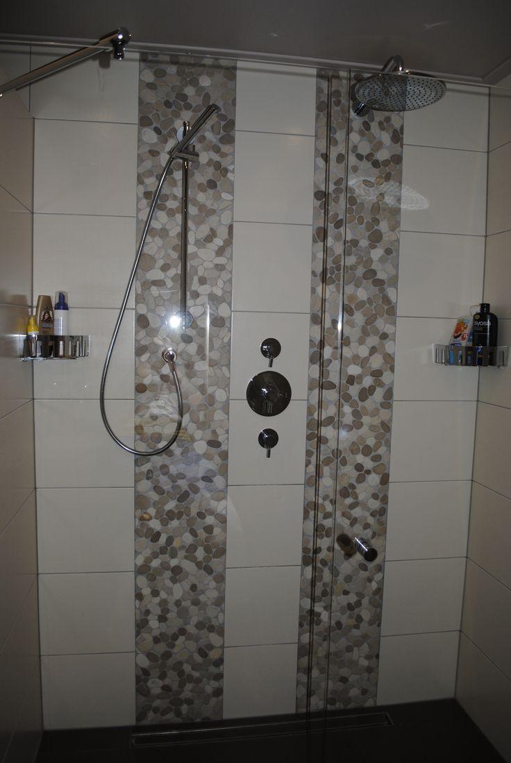 Detail van de douche na renovatie badkamer te Rijssen