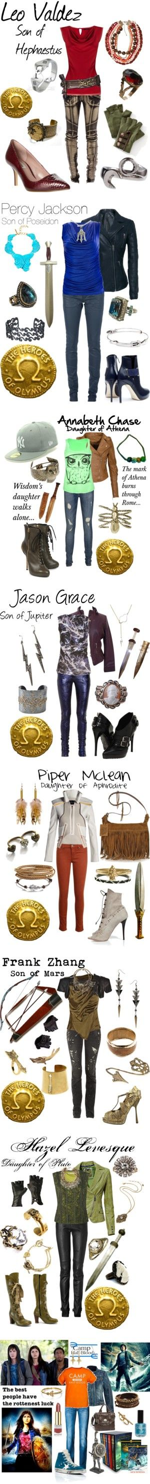 """Heroes of Olympus/ Demigods/ Percy Jackson"" by ghsdrummajor ❤ liked on Polyvore"