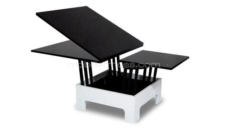 Table basse relevable zebra ps z bres et tables for Table a manger pour petit salon