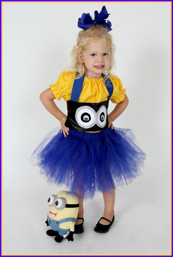 Boutique custom handmade pageant girls Despicable Me inspired Minion Costume, tutu, corset, eyes