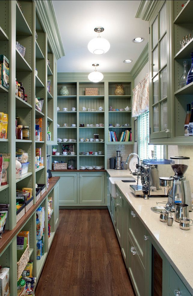 Larder / pantry Open shelves in The Ultimate country kitchen