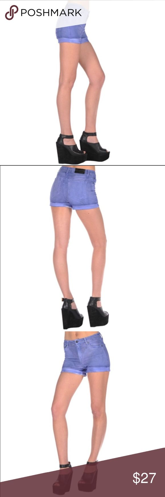 "💘KILL CITY HI WIRE SHORTS-STRETCH💘 💙The Hi Wire Shorts-Stretch Twill features a pigment spray, rolled hem, with a DIY 25 count stud kit.  In great condition. Super comfy.💙 Rise: 9"" Inseam: 3"" Color: Sky 98% Cotton, 2% Spandex. Made by KILL CITY in USA 🇺🇸 Kill City Shorts Jean Shorts"