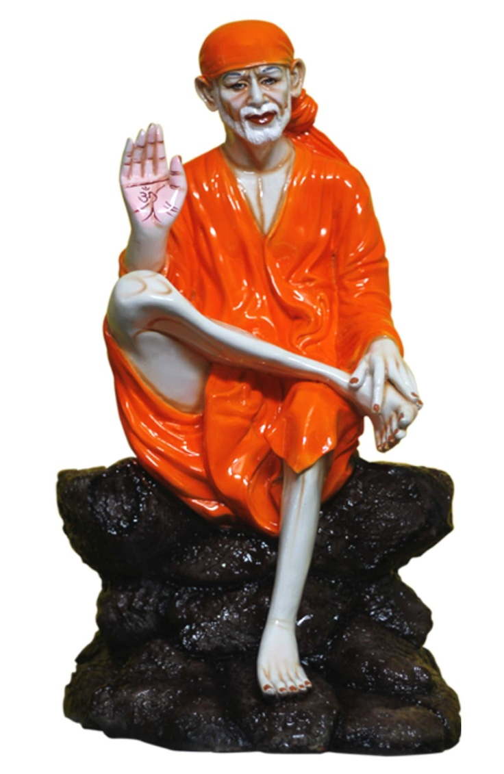 An orange Sai Baba sculpture from Gloob. Let his presence in your homes remind you of his lovely teachings.   Available only on:  http://www.gloob.in/sai-baba-orange.html#      Gloob sculptures are masterful carvings made to add a touch of class to your home decor.They also serve as an elegant choice to gift to near and dear ones.