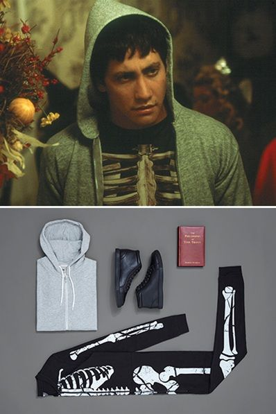 We're not suggesting you rock up to your local bar or a house party dressed as the film's six-foot rabbit, though, obviously, that would be dope. Instead, pull on Jake Gyllenhaal's Donnie Darko-at-Halloween costume and channel your inner disturbed teen in a street-friendly skeleton onesie and hoodie. Boom.