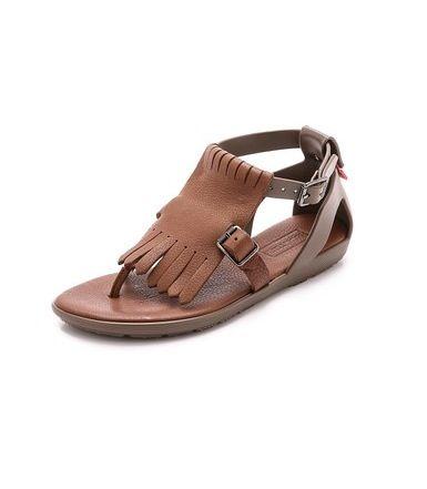 Fringe T-bar Sandals