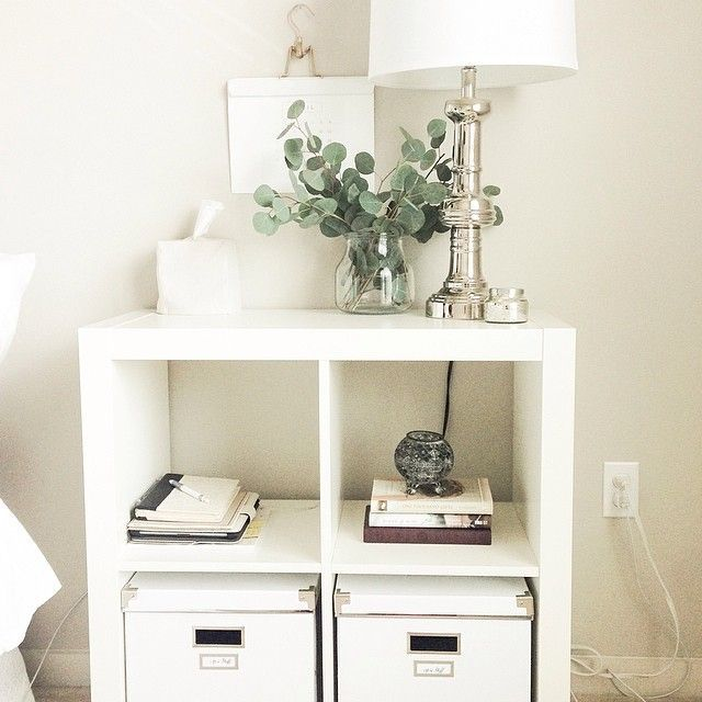 Creative ideas for nightstand alternatives that can save you money and show off your favorite things. #nightstands #bedrooms