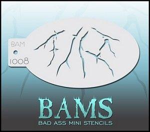 "Bad Ass Mini Stencils - Arterial -  3.5"" x 5"" (BAM1008) $4.00"